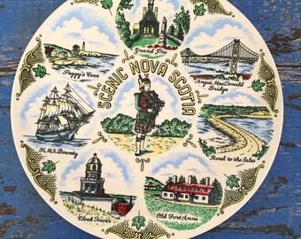 Vintage Souvenir Plate Nova Scotia Canada