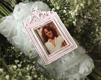 Bouquet Charm - Pink Vintage Inspired Frame