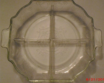 Depression glass nut or candy dish