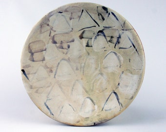 Lunch Plate with Triangle Pattern