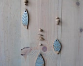 Opal Leaf Wall Hanging on Sycamore Branch