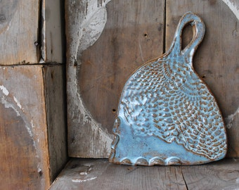 Small Stoneware Opal Doily Texture  Serving Tray