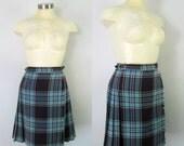 1950s Plaid Wool Pleated Kilt Skirt Laird of Scotland