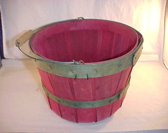Split Wood Produce Basket With Handle