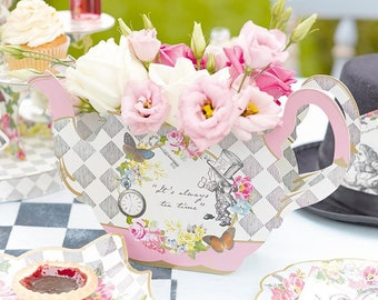 Alice in Wonderland Tea Pot Flower Vase
