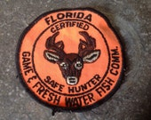 Vintage Florida Certified Safe Hunter Patch from the Game & Fresh Water Fish Commission