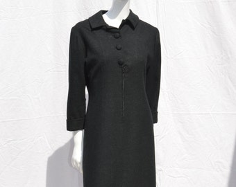 Vintage 60's dress MAD MEN style mod wool tailored size M original modern american design mid century by thekaliman