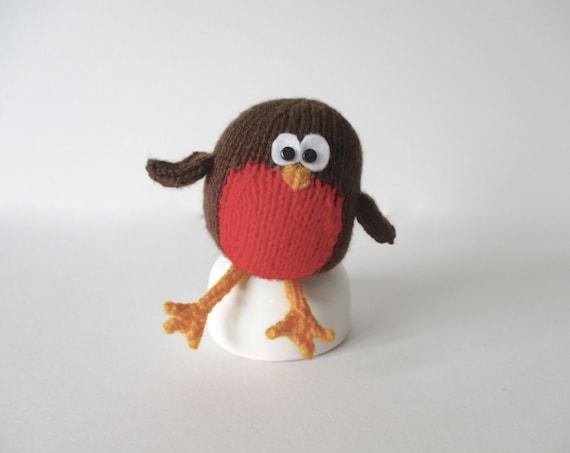 Knitting Pattern Christmas Robin : Jolly Robin Christmas toy knitting pattern by fluffandfuzz on Etsy
