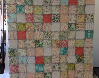STQR Vintage Sheet Rag Quilt