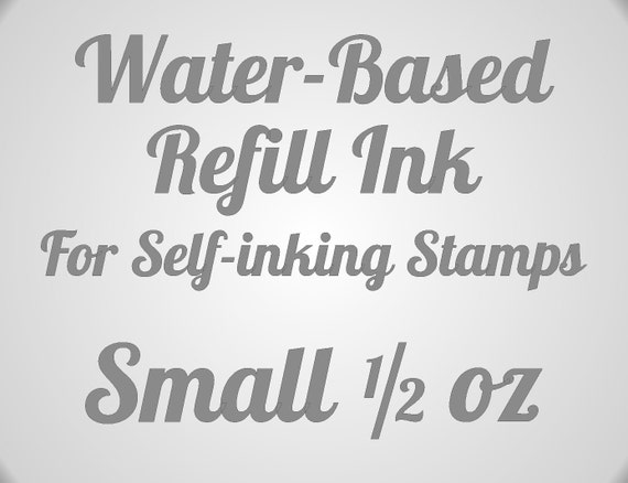 Water Based Self Inking Rubber Stamp Refill Ink - Inks Ideal, Trodat, ClassiX Stamps