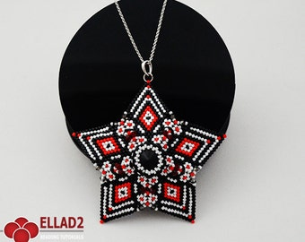 Tutorial Acamar Star Pendant-Beading Tutorial,Beading Pattern,Instant download, Ellad2