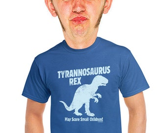 trex dino blue tshirt mens funny vintage insp retro geeky funny t-shirts gift for dad geeks nerd dinosaur fans college teens t-rex tee s-4xl