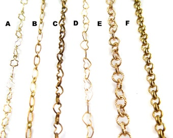 Thick Brass Chain for Customized Necklace, Choker, Bracelet, Anklet Jewelry