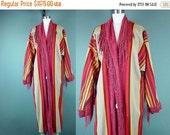 40% OFF Vintage Indian Blanket Coat Southwestern Fringe Tribal Ethnic Native Bohemian Southwest Love Apples by Stephanie OSFM