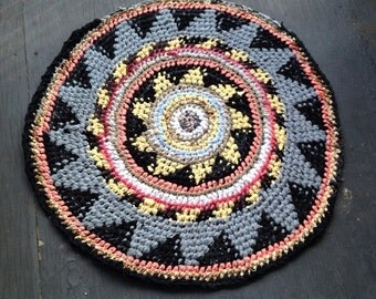Black Eye Fair Isle Rag Rug