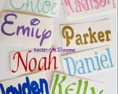 1 Name Decal, Personalized Name Sticker, Vinyl Name Decal, NOT 2 WORDS, Small Vinyl Decal, Vinyl Decal, Personized Names, Pet Names, Laptop