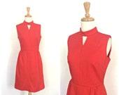 Vintage 70s Red  Dress - ...