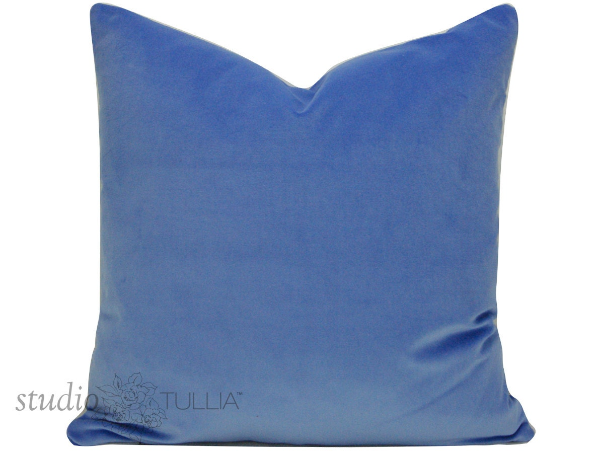 Periwinkle Blue Throw Pillow : Decorative pillow cover Periwinkle Blue by STUDIOTULLIAPILLOWS