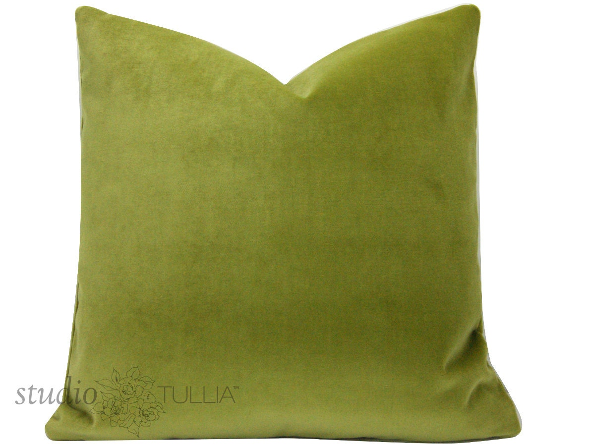 Moss Green Velvet Pillow Cover CHOOSE YOUR SIZE green