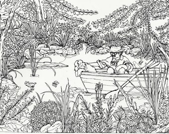 adult coloring pages outdoors - photo#5