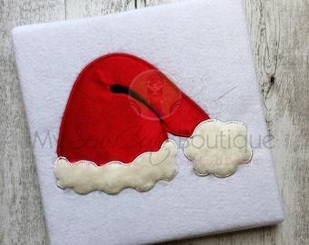 Santa Hat Applique Design - Machine Embroidery Applique Design - 8 Sizes - Instant Download