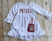 MSU cowbell dress for girls - NEW for SUMMER