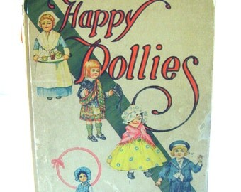 Antique Book Dollies in Happy Land  Whitman 1914, Verses, Poetry