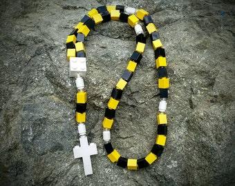 The Original Catholic Lego Rosary - Yellow and Black