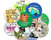 Any 10 Magnets or Buttons - You Choose - Bulk Pack