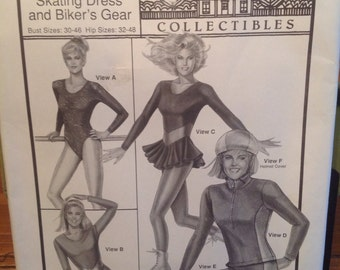 Vintage LEOTARD, SKATING and Cycling Gear Sewing Pattern UNCUT
