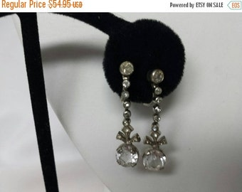 CIJ 60% SAVINGS Downton Abbey Paste Earrings Screwback  fabulous