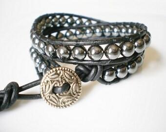 Men's Bracelet Hemalyke Cuff Unisex Jewelry Metallic Bracelet
