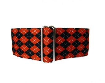 Martingale Dog Collar, Argyle Martingale Collar, Halloween Dog Collar, 2 Inch Martingale Collar, Argyle Dog Collar