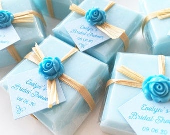 Soap Favors, Favor Soaps, Baby Shower Soap Favors, Handmade Soap Favor, Wedding Soap Favors, Bridal Shower Soap Favors, Blue Soap Favors