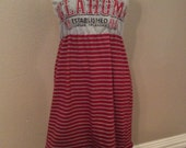 Oklahoma University Sooners Strapless Gameday Dress