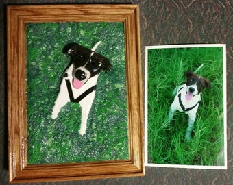 Dog Life Like, Custom 3D Portrait, Clay Back Ground, Photo Of Your Loving Dog, Pets, Remerber that Lost Pet, Gift, for him, Gift For Her