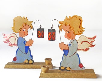 Pair of Christmas Angels Made in Western Germany