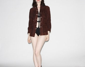 70% Off FINAL SALE - Vintage 1960s Suede Coat - Vintage 60s Suede Coats - Brown Suede Coat - WO0173