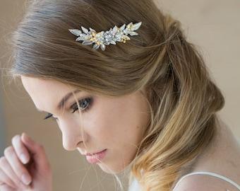 Bridal headpiece, Bridal hair piece, Bridal hair comb, Grecian headpiece, laurel hair piece, Leaf hair piece, Gold, Silver, Headpiece
