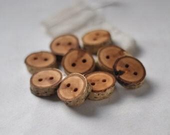 tree branch buttons •  birch wooden buttons  • birch wood button
