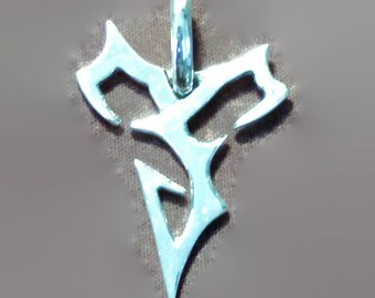Final Fantasy X Tidus Pendant in Sterling Silver
