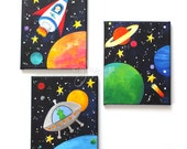 RESERVED for Tamie  Set of 3 16x20 Space Prints