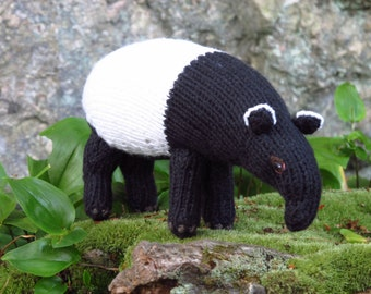 Malayan Tapir Knitting Pattern