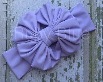 Messy Bow in Lavender by Ruby Blue