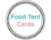 FOOD TENT CARDS, Printable, baby shower decor, bridal shower decorations, wedding party decor