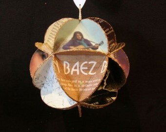 Joan Baez Album Cover Ornament Made Of Record Jackets