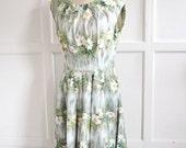 SALE 1950s watercolour print dress