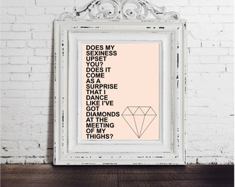 Maya Angelou Quote Feminism Diamonds DIGITAL DOWNLOAD Sexy Women Body Shame Female Feminist Typography Equality Funny Wise Words Author