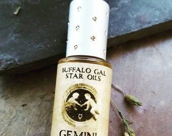 BACK to SCHOOL SALE Gemini Zodiac Star Oil // Astrology Aromatherapy for the Air Sign Gemini - The Twins // Essential Oil Perfume
