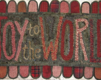 Primitive Rug Hooking Pattern~Joy to the World